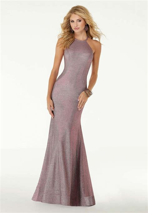Iridescent Fitted Jersey Prom Dress | Morilee