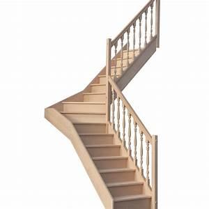 Escalier 1 4 Tournant Gauche : escalier 1 4 tournant milieu avec contremarches balustres tourn es escaliers ~ Dode.kayakingforconservation.com Idées de Décoration