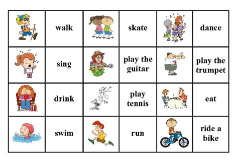 present continuous  simple verbs  pictures