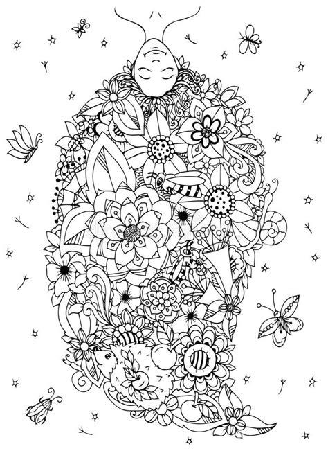 vector illustration zen tangle girl upside