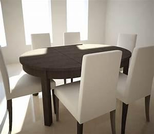 Table Ikea Extensible : 3d extensible table chairs ikea model ~ Melissatoandfro.com Idées de Décoration