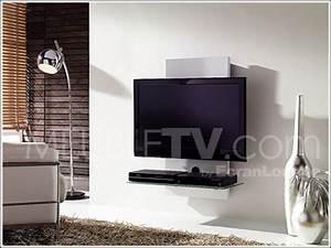 Meuble Tv Mur : meuble tv mural gisan sm130 bl un meuble discret ~ Teatrodelosmanantiales.com Idées de Décoration