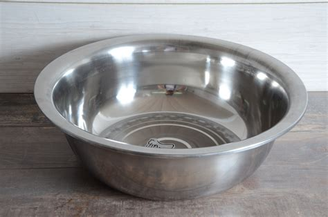 stainless steel mixing bowl 55 cm food kitchen salad