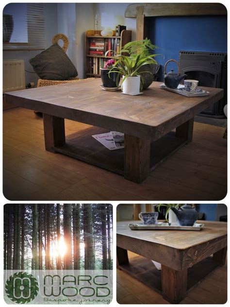347.69 kb, 736 x 736. handmade 100 x 100 cm square slab top coffee table in reclaimed wood; Our custom handmade large ...