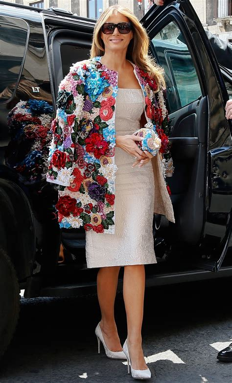 Want Melania Trump's floral Dolce & Gabbana coat? It's only $51K