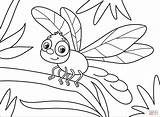 Coloring Dragonfly Pages Printable sketch template