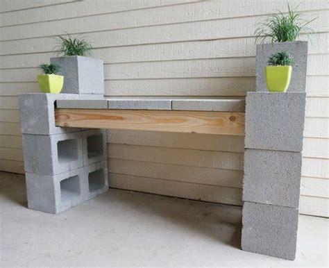 how to make a cinder block bench diy cinder block outdoor bench the owner builder network