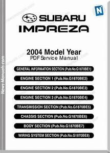 Subaru Impreza G11 2004 Service Manual