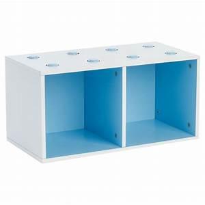 Meuble De Rangement Cube : meuble de rangement empilable 2 cubes abc bleu ~ Teatrodelosmanantiales.com Idées de Décoration