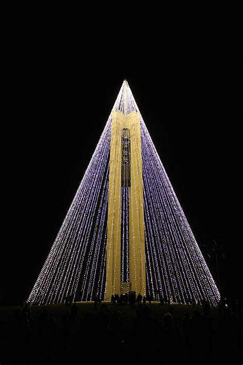 christmas lights in the shape of a tree a carillon dayton history