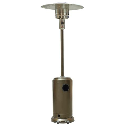home depot patio heater garden radiance 41 000 btu stainless steel and gold