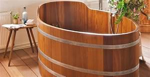 Pont De Baignoire Bois : baignoire en bois ambiance nordique westwing ~ Premium-room.com Idées de Décoration