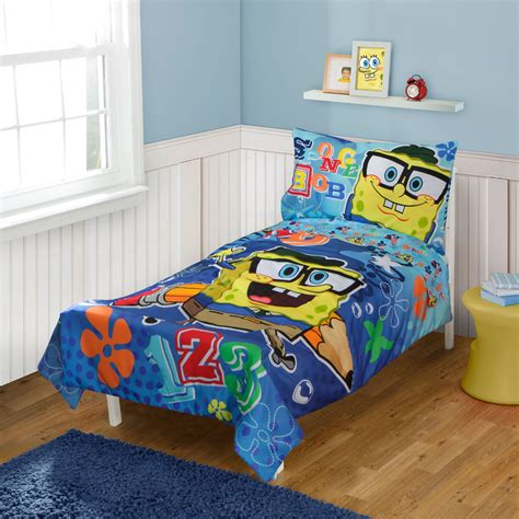Spongebob Toddler Bed Set spongebob squarepants toddler bedding set school 123