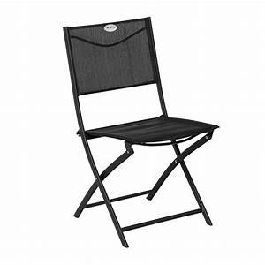 Chaise Pliante Noire : chaise de jardin pliante modula noir chaise et fauteuil de jardin eminza ~ Teatrodelosmanantiales.com Idées de Décoration