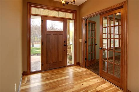 hickory floor cherry stained doors and trim interior