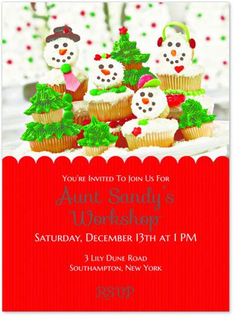aunt sandys cupcake workshop party evite