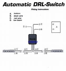 Day Time Running Light Switch Relay Harness Automatic