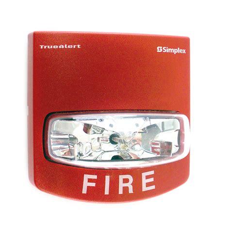 simplex 0743250 wall mount alarm strobe light