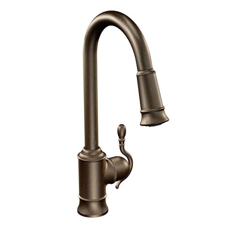 moen single handle kitchen faucets moen woodmere single handle pull sprayer kitchen