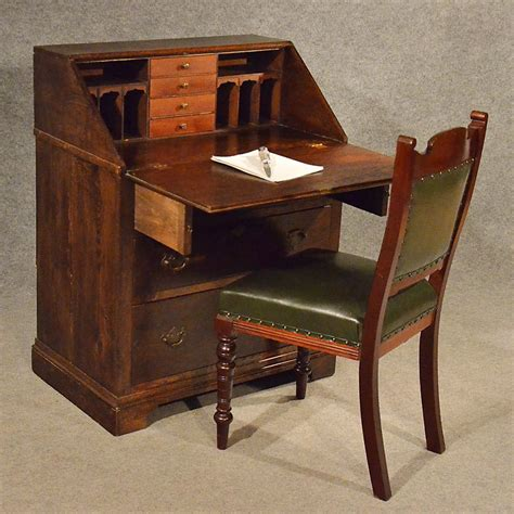oak bureau desk antique oak bureau writing study desk antiques atlas