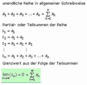 Wert Einer Reihe Berechnen : mathematische reihen ~ Themetempest.com Abrechnung