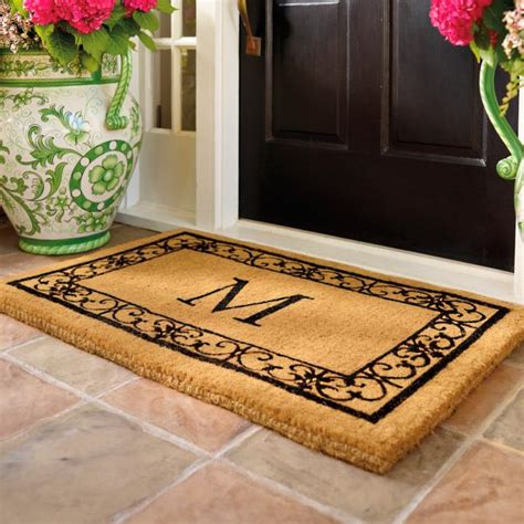 wayland monogrammed coco mat frontgate