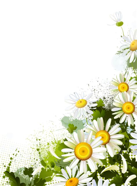 tubes bordurestubes coinscorners peinture fleurs
