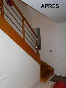 Renovation D Escalier En Bois : r novation de rampe d 39 escalier rennes ille et vilaine ~ Premium-room.com Idées de Décoration