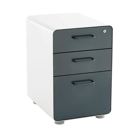 how to dress up a metal file cabinet poppin dark grey 3 drawer locking stow filing cabinet