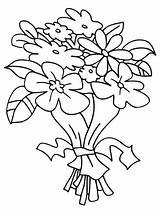 Bouquet Coloring Flowers Flower Clipart Flores Printable Colouring Colorir Bunch Coloriage Fleurs Dessin Clip Arrangement Drawing Imprimir Nouveau Template Crochet sketch template