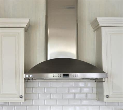 kitchen hoods subway tile backsplash note where tile stops and starts