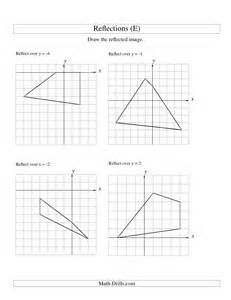 Reflection Worksheet Reflection Of 4 Vertices Various Lines E