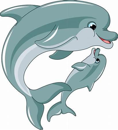 Clipart Dolphin Dolphins Dancing Cartoon Transparent Clip