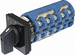 Ac Rotary Switch - Off   3 Positions 240v Ac 65a
