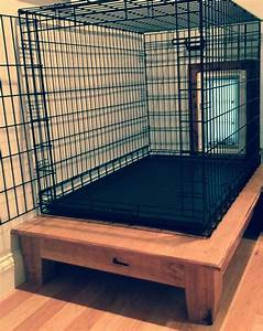 hand made elevated dog crate platform by appalachian With dog beds and crates