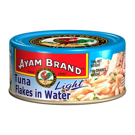 Ayam Brand Tuna Light Flakes In Water 150g  From Redmart