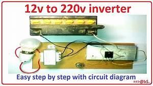 How To Make 12v To 220v Inverter Easy At Home