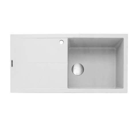 white inset kitchen sink caple sotera 100 inset kitchen sink with drainer sinks 1319