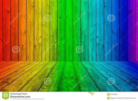 colorful wood planks background box  rainbow colors