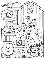 Farm Coloring Animals sketch template
