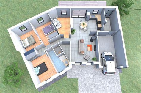 plan chambre 3d un plan 3d de maison 4 chambres originale avec une forme