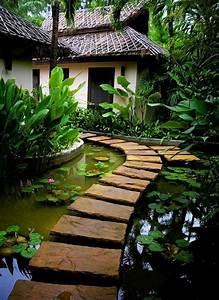 Platten Für Garten : platten laufweg f r ein garten design im japanischen stil gartengestaltung 60 fantastische ~ Orissabook.com Haus und Dekorationen