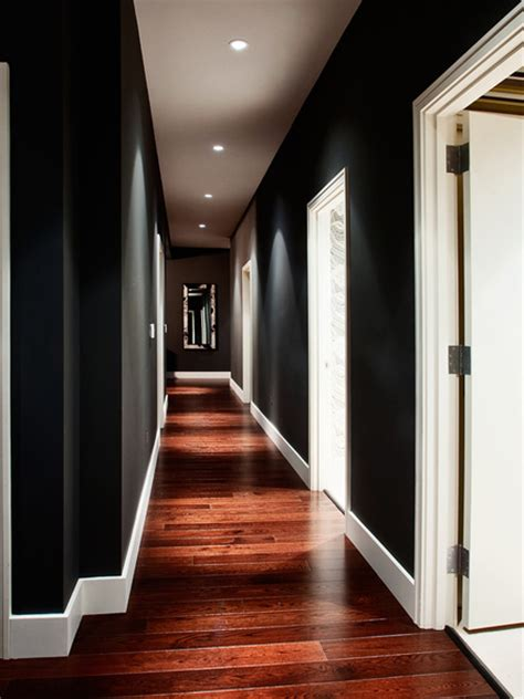 black and white hallways home dzine fade to black decorating with black