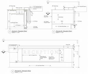 Woodwork Reception Desk Construction PDF Plans