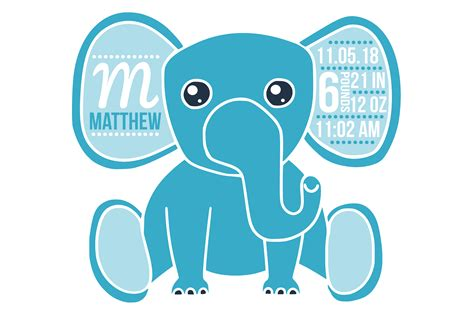 Hence anybody can access and download them for sharing the great news. Birth stats svg, birth stats template, elephant svg file ...