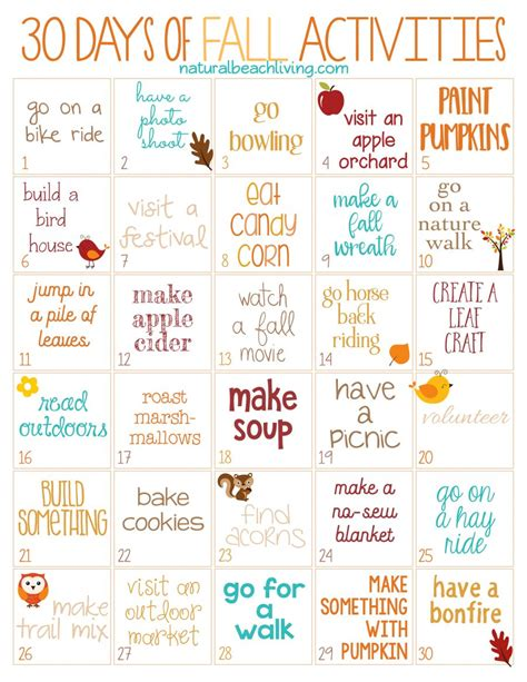 30 days of fall activities for the whole family free 642 | 30 Days of Fall Activities NBL e1499871662416