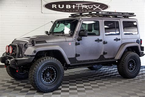 2017 Jeep Wrangler Rubicon Unlimited Gray Line-x