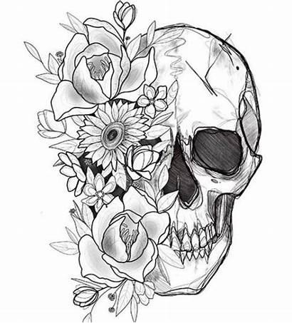 Tattoo Skull Flower Flowers Tattoos Designs Cool