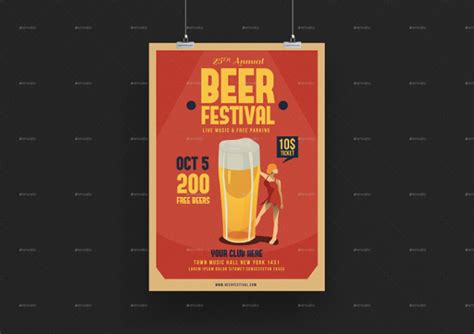 18+ Beer Party Flyer Templates