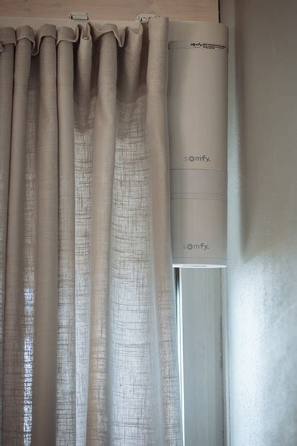 Remote Drapes - electric curtains somfy track motorization for curtain